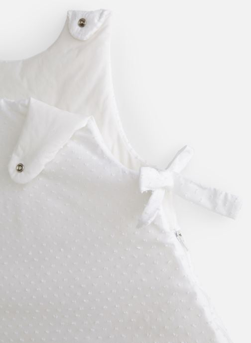 Vêtements Cyrillus Gigoteuse Plumetis Blanc vue portées chaussures