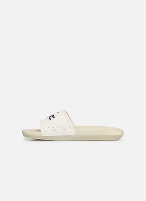Sandales et nu-pieds Lacoste Croco Slide 219 1 Cma Blanc vue face