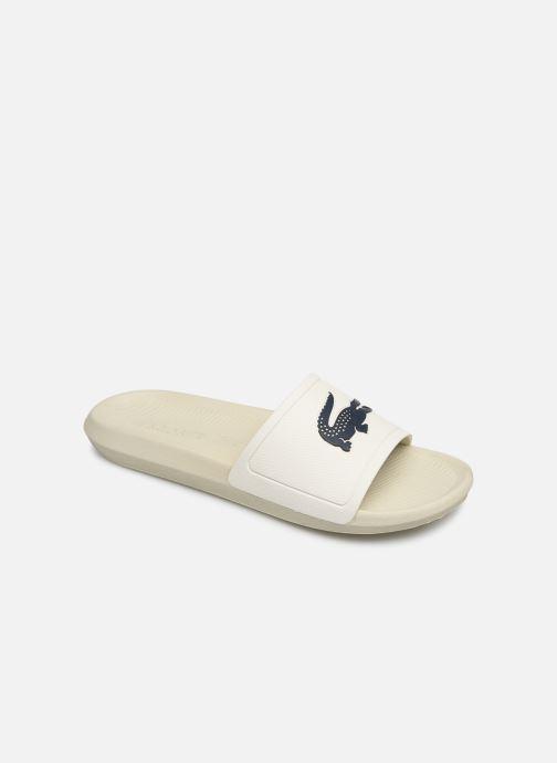 Sandales et nu-pieds Lacoste Croco Slide 219 1 Cma Blanc vue détail/paire