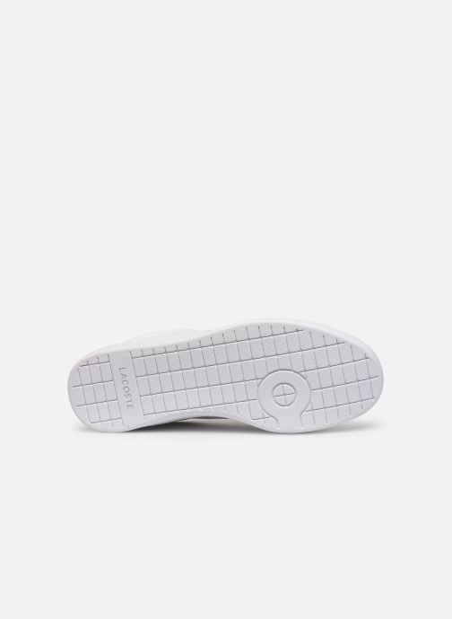 Baskets Lacoste Carnaby Evo 219 1 Sfa Blanc vue haut