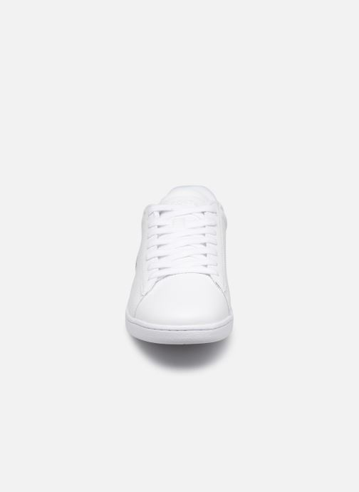 Baskets Lacoste Carnaby Evo 219 1 Sfa Blanc vue portées chaussures