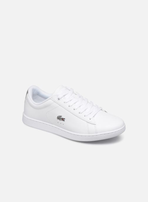 Baskets Lacoste Carnaby Evo 219 1 Sfa Blanc vue détail/paire