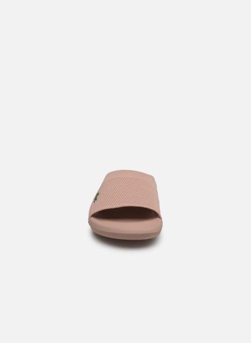 Mules et sabots Lacoste Croco Slide 219 1 Us Cfa Rose vue portées chaussures