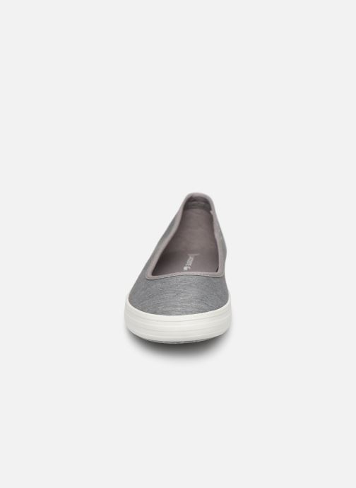Ballerines Lacoste Ziane Ballet 219 1 Cfa Gris vue portées chaussures