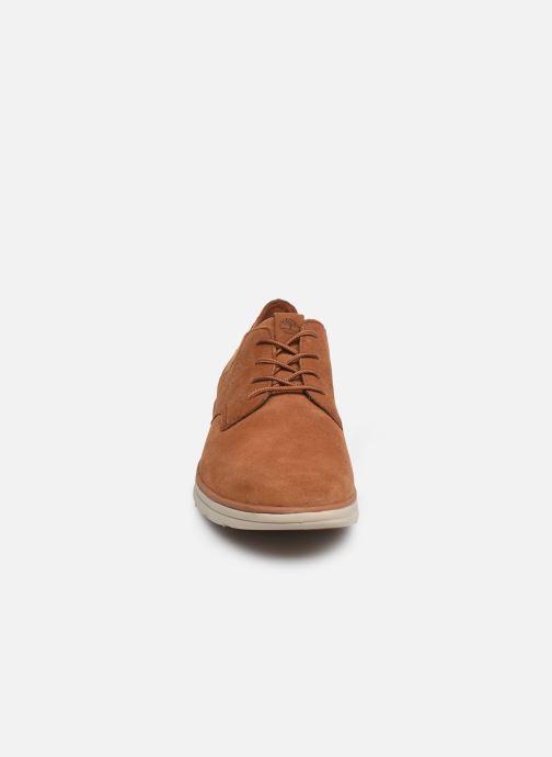 Sneaker Timberland Bradstreet Mixed Media Ox braun schuhe getragen