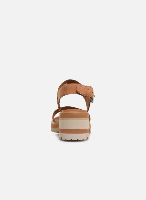 Sandales et nu-pieds Timberland Violet Marsh 2-Band Sandal Marron vue droite