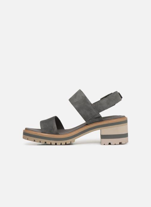 Sandales et nu-pieds Timberland Violet Marsh 2-Band Sandal Gris vue face