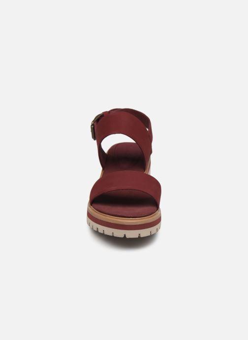 Sandalias Timberland Violet Marsh 2-Band Sandal Vino vista del modelo
