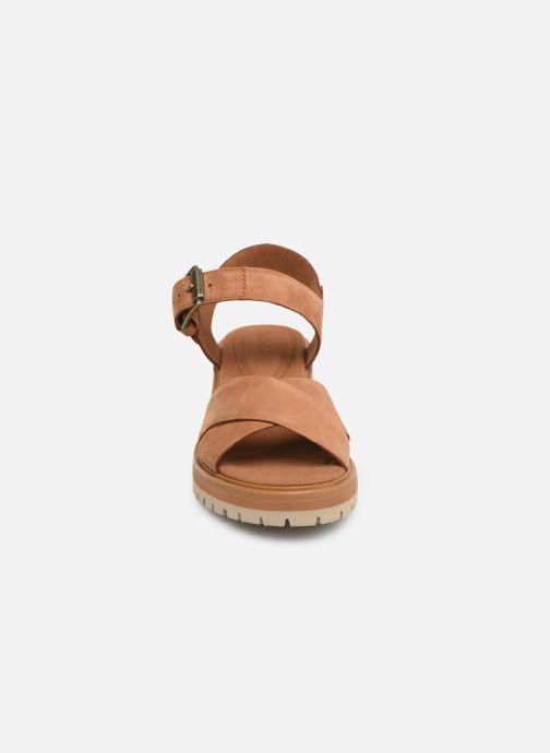 Sandales et nu-pieds Timberland Violet Marsh Cross Band Sandal Marron vue portées chaussures