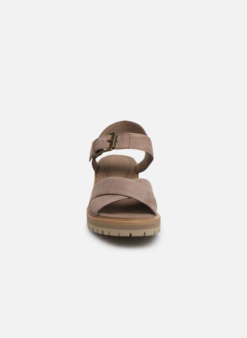 Sandales et nu-pieds Timberland Violet Marsh Cross Band Sandal Gris vue portées chaussures