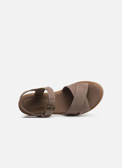 Sandales et nu-pieds Timberland Violet Marsh Cross Band Sandal Gris vue gauche