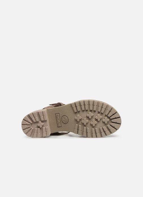 Sandales et nu-pieds Timberland Violet Marsh Cross Band Sandal Gris vue haut