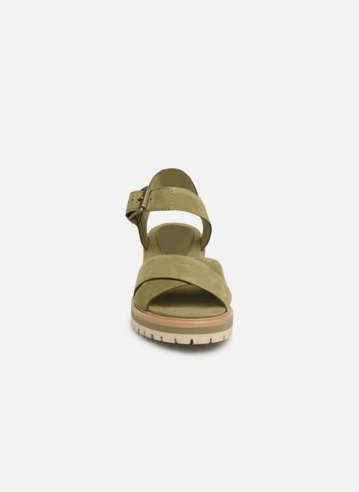 Sandales et nu-pieds Timberland Violet Marsh Cross Band Sandal Vert vue portées chaussures
