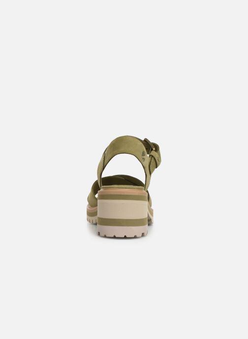 Sandales et nu-pieds Timberland Violet Marsh Cross Band Sandal Vert vue droite