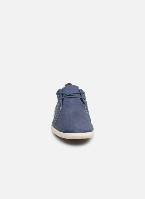 Baskets Timberland Gateway Pier Casual Oxfor II Bleu vue portées chaussures