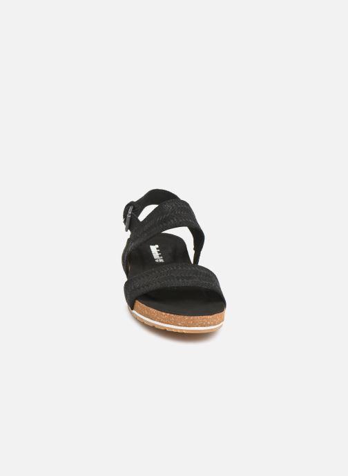Sandales et nu-pieds Timberland Malibu Waves 2 Band Sandal Noir vue portées chaussures