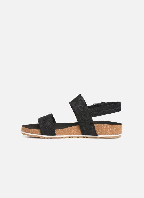 Sandales et nu-pieds Timberland Malibu Waves 2 Band Sandal Noir vue face
