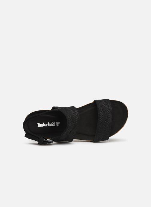 Sandales et nu-pieds Timberland Malibu Waves 2 Band Sandal Noir vue gauche