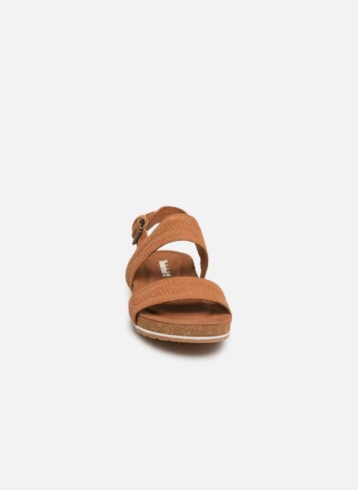Sandali e scarpe aperte Timberland Malibu Waves 2 Band Sandal Marrone modello indossato