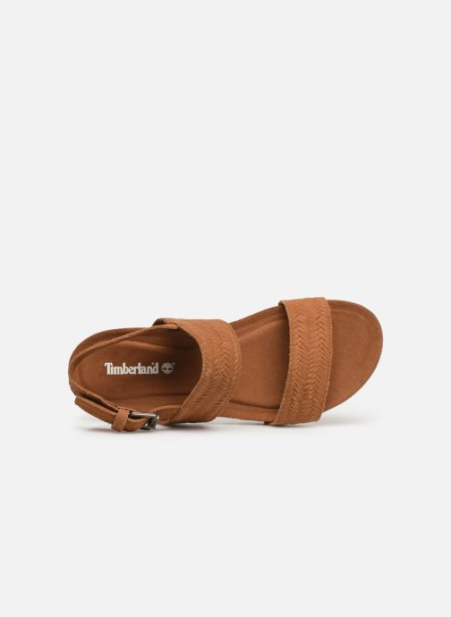 Sandali e scarpe aperte Timberland Malibu Waves 2 Band Sandal Marrone immagine sinistra