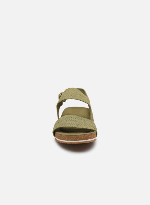 Sandali e scarpe aperte Timberland Malibu Waves 2 Band Sandal Verde modello indossato