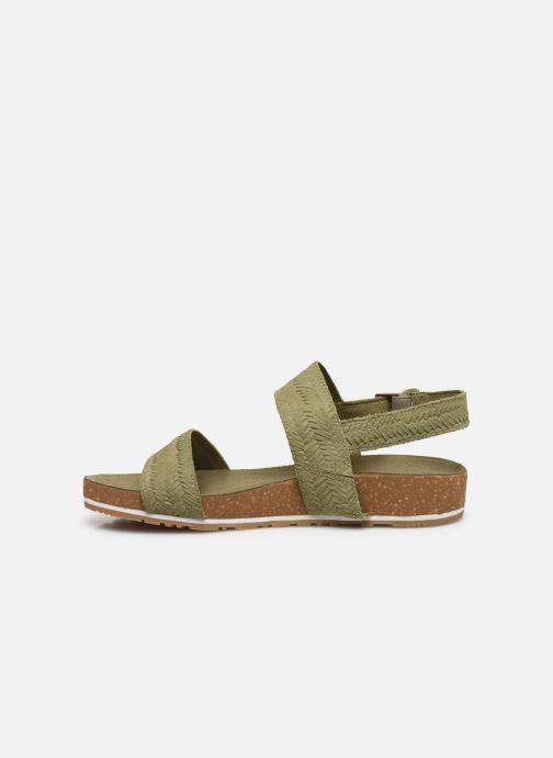 Sandali e scarpe aperte Timberland Malibu Waves 2 Band Sandal Verde immagine frontale