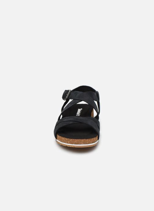 Sandales et nu-pieds Timberland Malibu Waves Ankle Noir vue portées chaussures