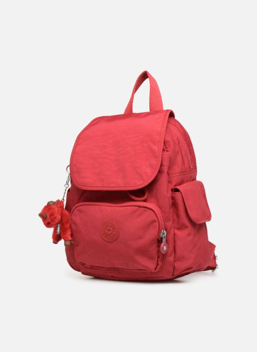 Mochilas Kipling City Pack Mini Rojo vista del modelo
