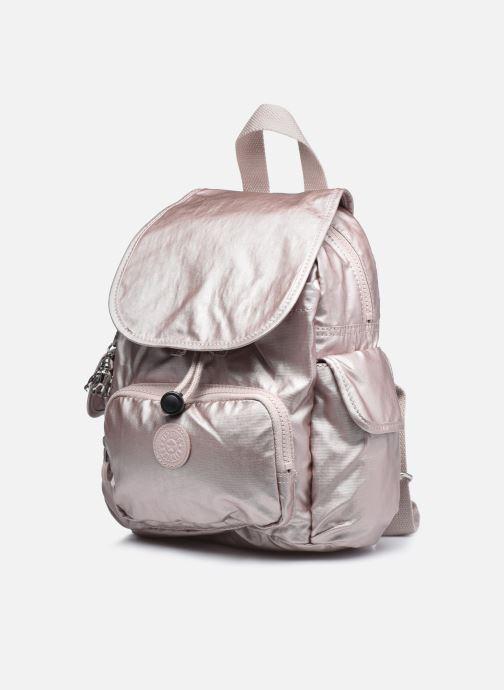 Rucksäcke Kipling City Pack Mini rosa schuhe getragen