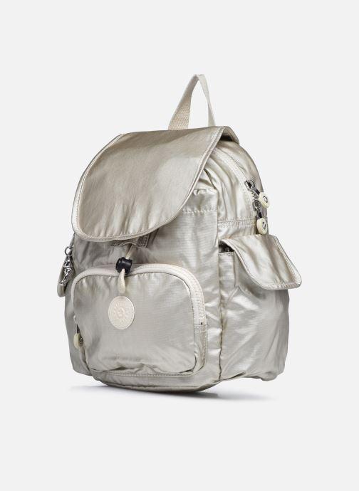 Rucksäcke Kipling City Pack Mini weiß schuhe getragen