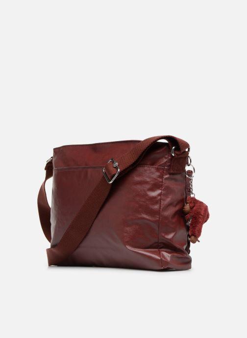 Handtaschen Kipling Coralie weinrot ansicht von rechts