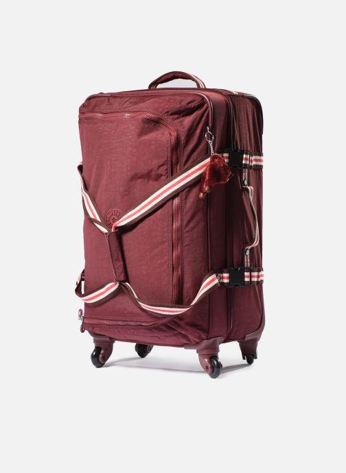 Reisegepäck Kipling Cyrah M rot schuhe getragen