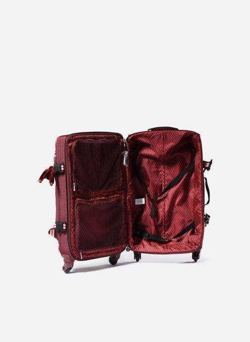 Reisegepäck Kipling Cyrah M rot ansicht von hinten