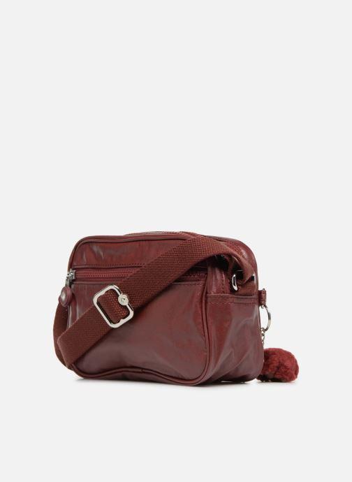 Handtaschen kipling Dee weinrot ansicht von rechts
