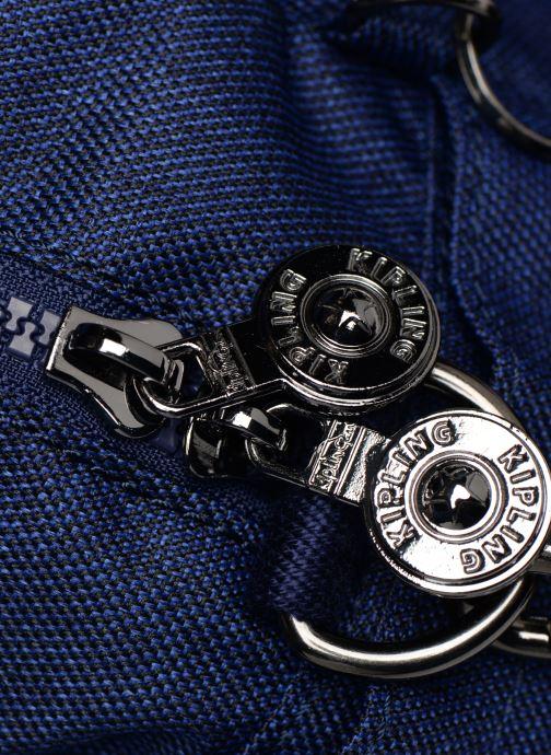 Handtaschen kipling Defea Up blau ansicht von links