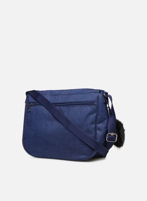 Handtaschen kipling Earthbeat M blau ansicht von rechts