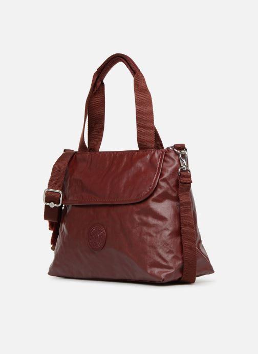 Handtaschen kipling Enora weinrot schuhe getragen