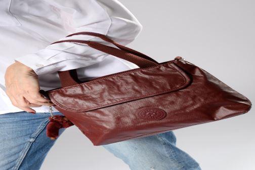 Handtaschen kipling Enora weinrot ansicht von oben
