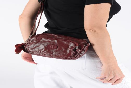 Sacs à main Kipling Hubei Bordeaux vue bas / vue portée sac