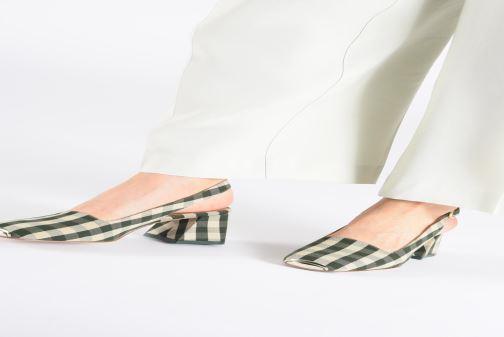 High heels Miista CANAR Green view from underneath / model view