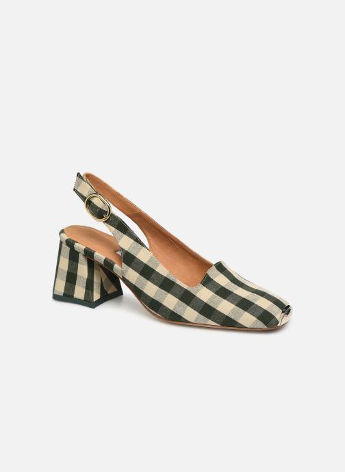 High heels Miista CANAR Green detailed view/ Pair view