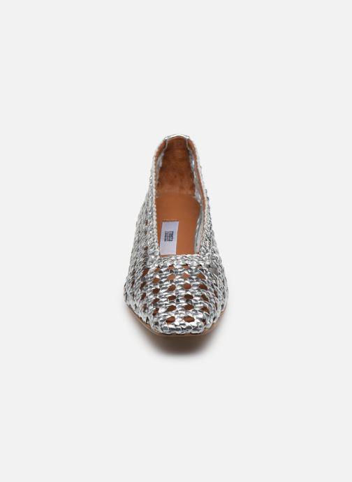 Escarpins Miista Taissa Argent vue portées chaussures