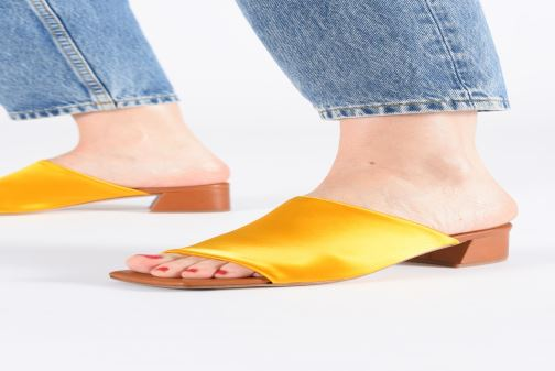 Mules & clogs Miista CATERINA Yellow view from underneath / model view