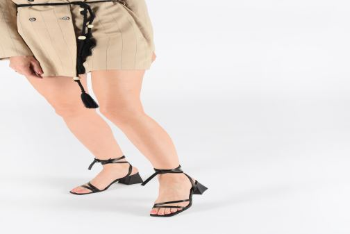 Sandals Miista QUIMA Black view from underneath / model view