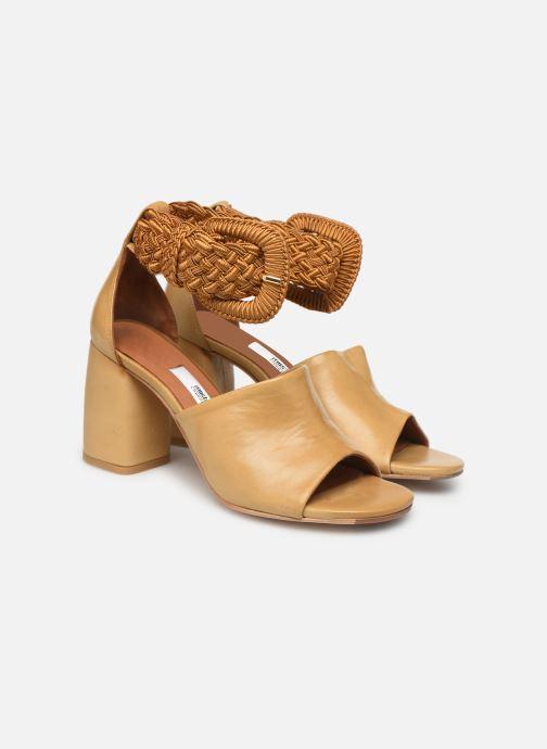 Sandales et nu-pieds Miista ADA Beige vue 3/4