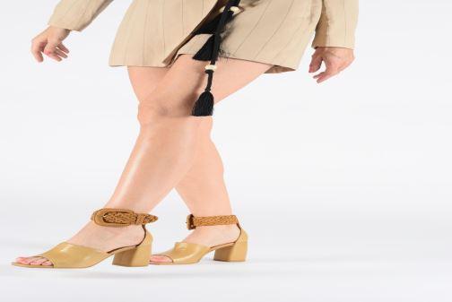 Sandals Miista ADA Beige view from underneath / model view