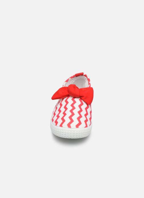 Sandales et nu-pieds Archimède Julie New Chaussures Rouge vue portées chaussures
