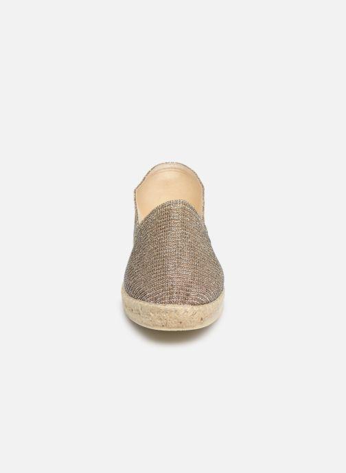Espadrilles La maison de l'espadrille Espadrille Métalisée Or et bronze vue portées chaussures