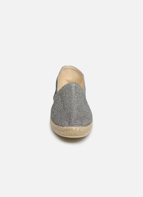 Espadrilles La maison de l'espadrille Espadrille Métalisée Argent vue portées chaussures