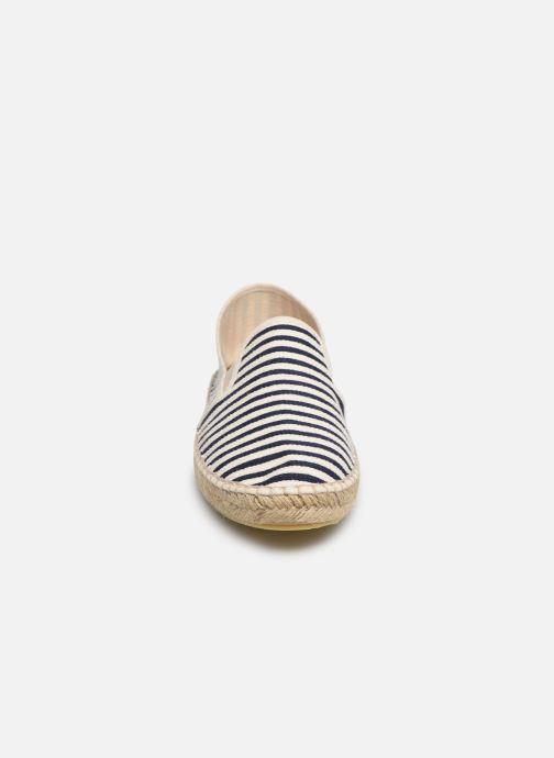 Espadrilles La maison de l'espadrille Espadrille 1097 Bleu vue portées chaussures